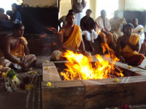 performing yagya